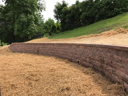 Curved Retaining Wall